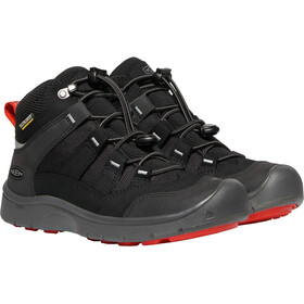 Keen Hikeport Mid WP Zapatillas Jóvenes, black/bright red